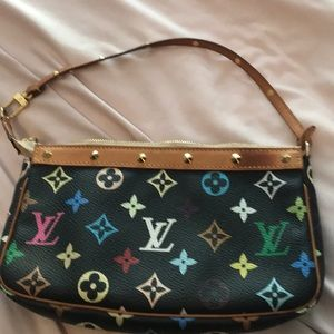 Authentic Louis Vuitton black and multicolored